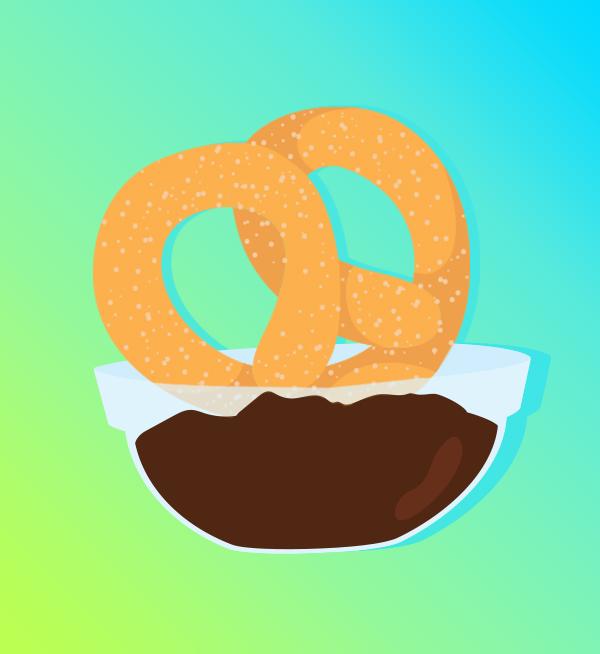 Soft pretzel pairings: Pretzel Churros are a sweet treat.