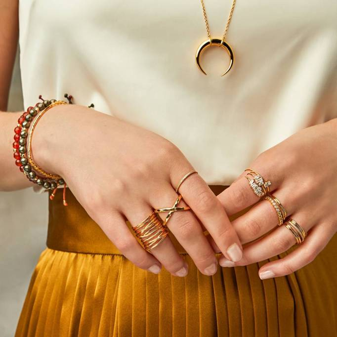 Different Style Rings and Bracelets
