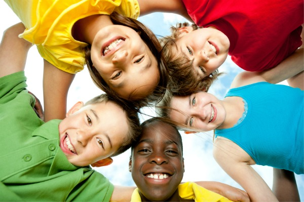 a group of diverse children