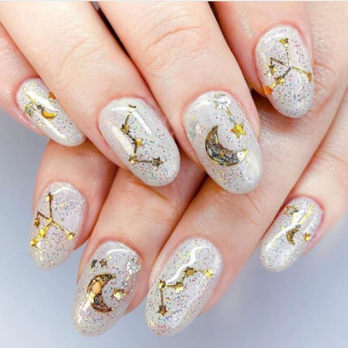 All the Stars Nail Art