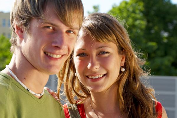 Teen couple dating