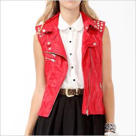 faux-leather vest