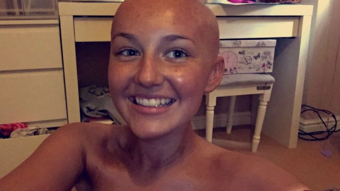 Teen with cancer is 'proud' of