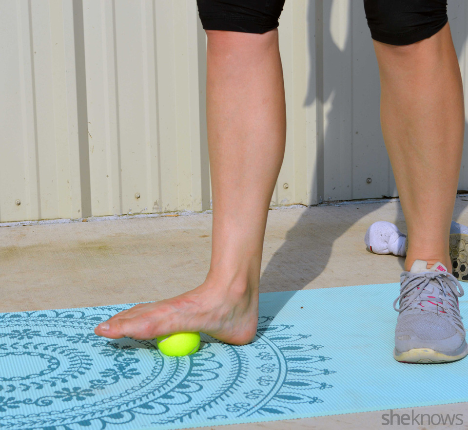 Tennis ball exercises that fight sore muscles: Feet