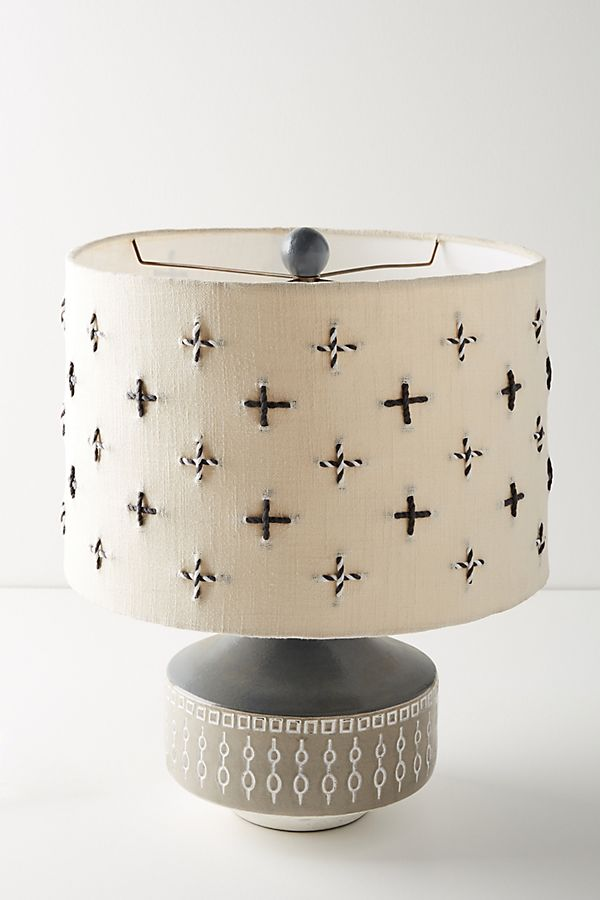 Add this embroidered lamp shade to your room