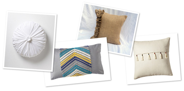 Textured pillows for fall