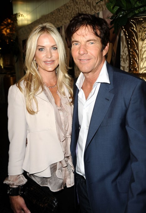 Dennis and Kimberly Quaid at the HBO premiere of 'The Special Relationship'