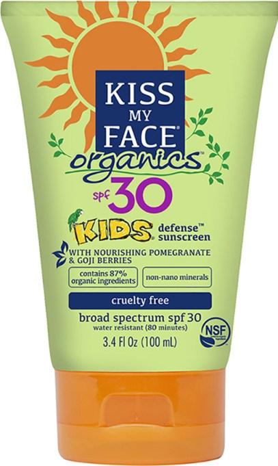 Kiss My Face organics kids mineral sunscreen, SPF 30