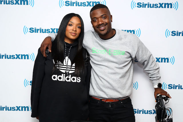 Princess Love and Ray J visit the SiriusXM Studios on March 29, 2018