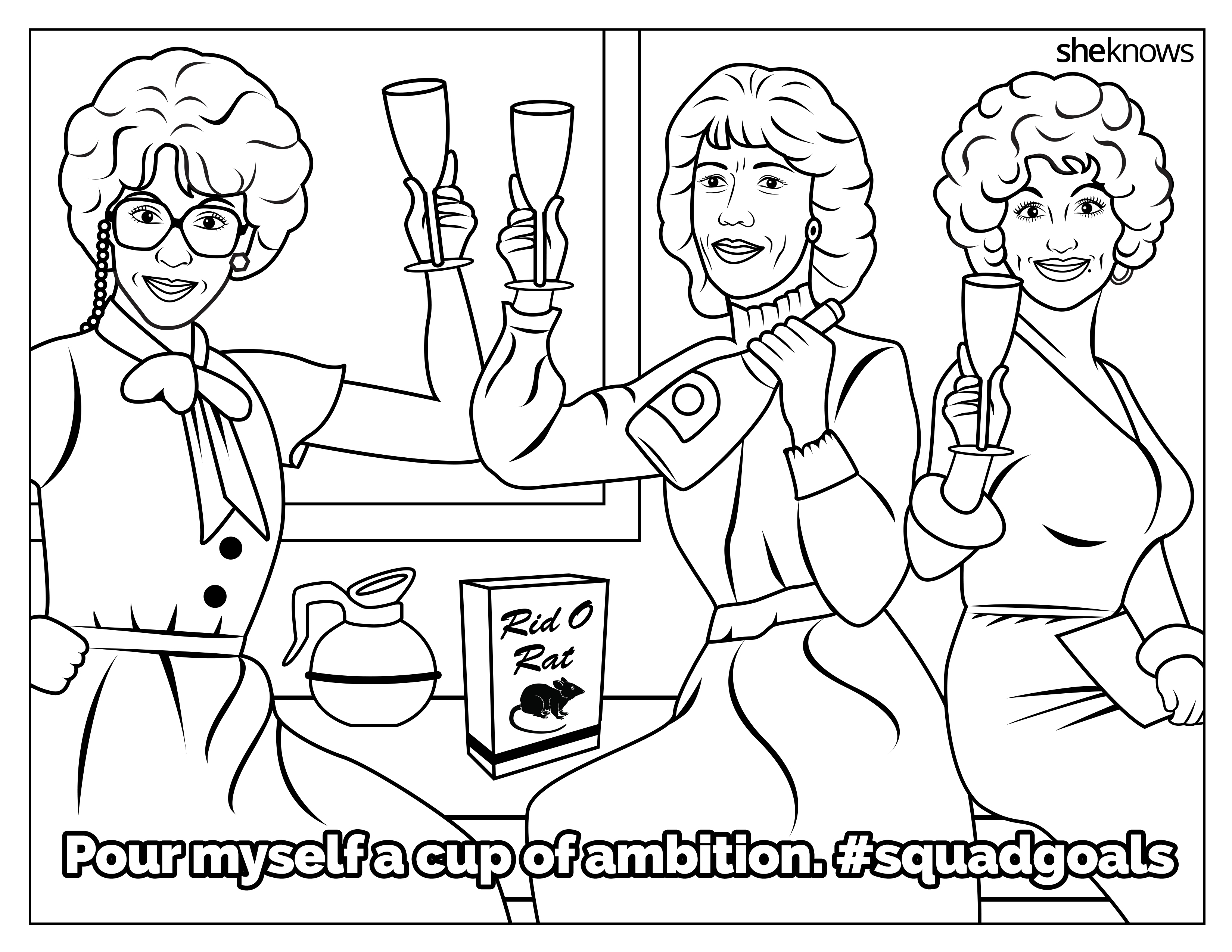 The Ultimate #SquadGoals Coloring Book — Print It, Color It ...