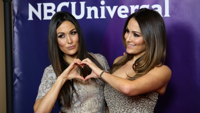 Celebrities attend 2016 NBCUniversal Press Tour at The Langham Huntington Hotel & Spa.  Featuring: Brie Bella, Nikki Bella Where: Los Angeles, California, United States When: 13 Jan 2016 Credit: Brian To/WENN.com