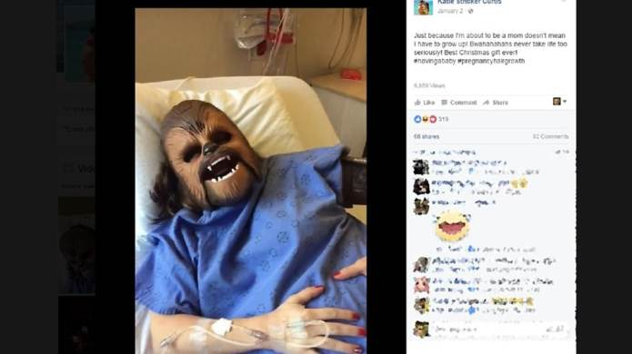 Mom channels Chewbacca during labor