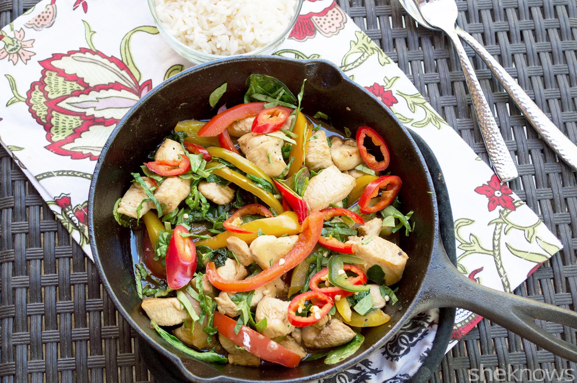 One-pan Thai basil chicken recipe