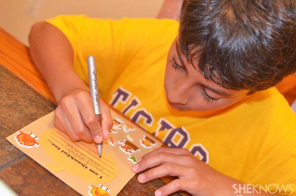 Thankful garland craft for kids