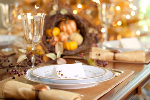 Thanksgiving decorating ideas, placesetting