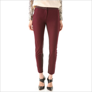 Maxwell Trousers with Leather Trim