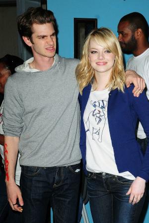 The Amazing Spiderman's Andrew Garfield and Emma Stone