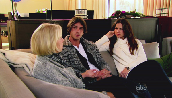 Bachelor Ben Flajnik chats with his mom and sister