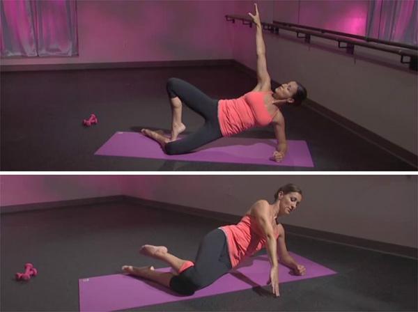Knee opener in side plank