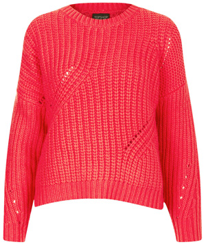 Topshop Knitted Angora Cable Jumper$90