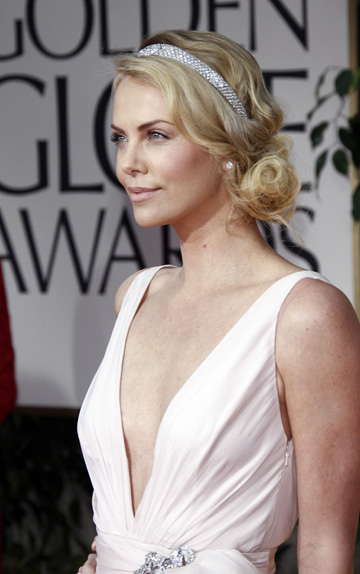 Charlize Theron at the 2012 Golden Globes