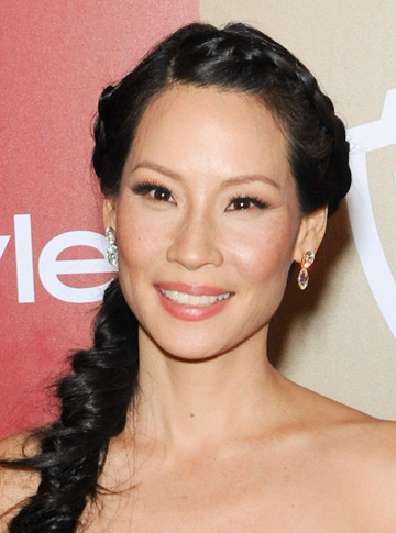 Lucy Liu at the 2013 Golden Globes