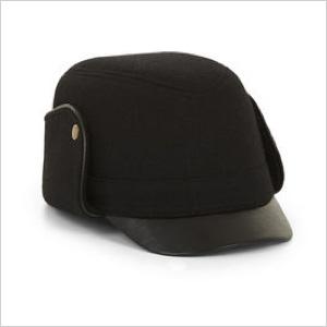 Contrast-Brim Trapper Hat(BCBG, $48)