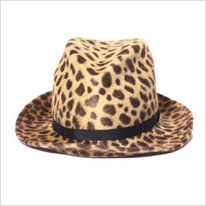 Anthony Peto Gervaise Hyena-Print Felt Hat(Matches, $192)
