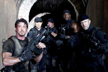The cast of The Expendables
