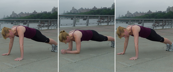 Plank- elbow and hand variation