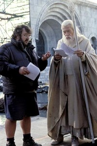 Peter Jackson and Ian McKellen in Lord of the Rings