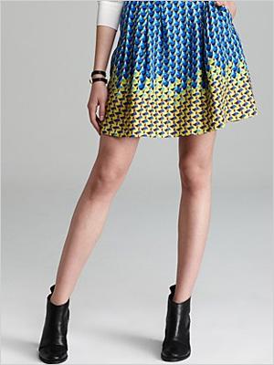 printed skirt for a fuller bust
