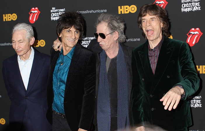 The Rolling Stones on red carpet