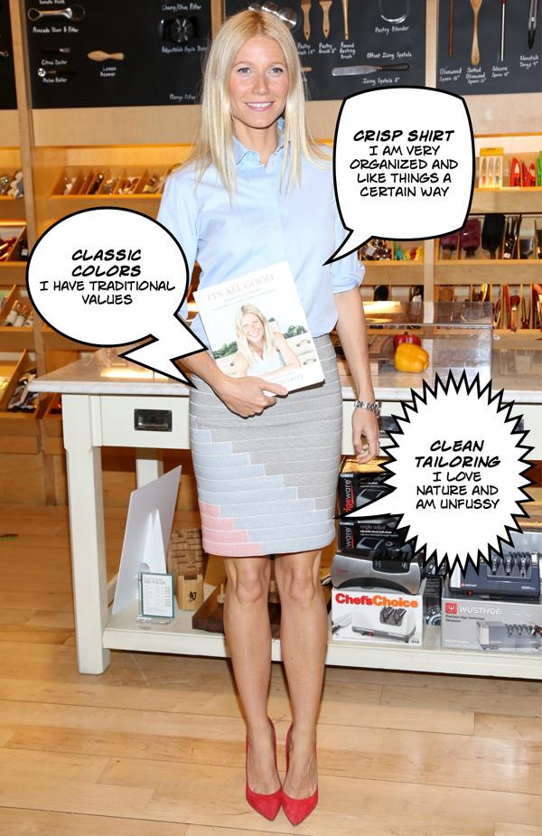 Preppy perfection: Gwyneth Paltrow