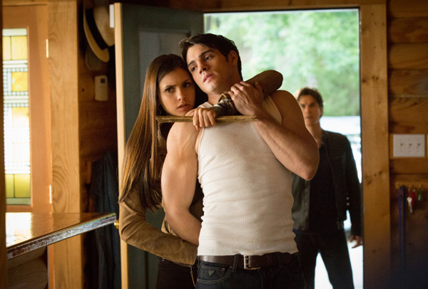 Elena restrains Jeremy