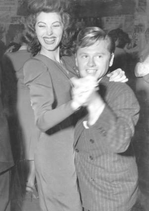 Mickey Rooney and Ava Gardner