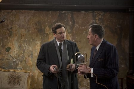 Colin Firth and Geoffrey Rush in The King's Speech