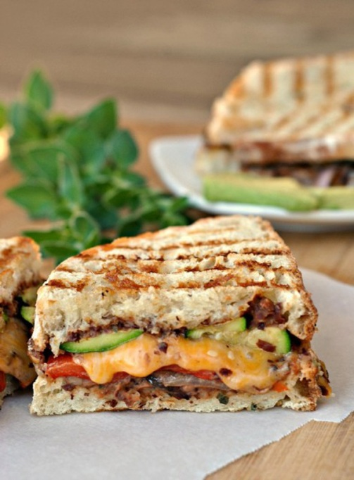 Sandwiches and Wraps for a Healthy Lunch | Mexican-Style Grilled Vegetable Sandwiches