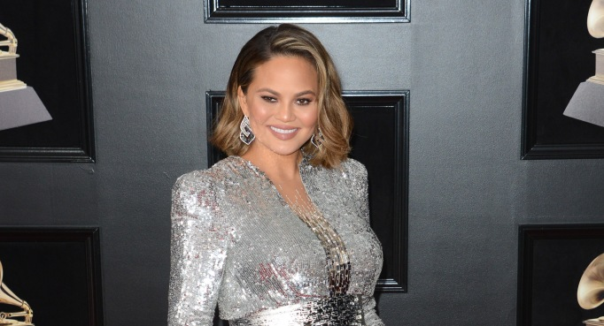 Chrissy Teigen attends the 60th Annual Grammy Awards