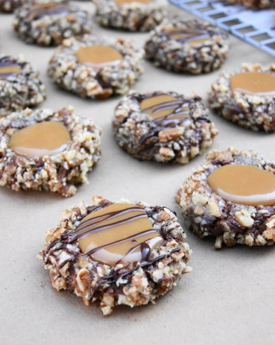 Popular Pinterest Cookies: Caramel and nuts make these cookies a real treat