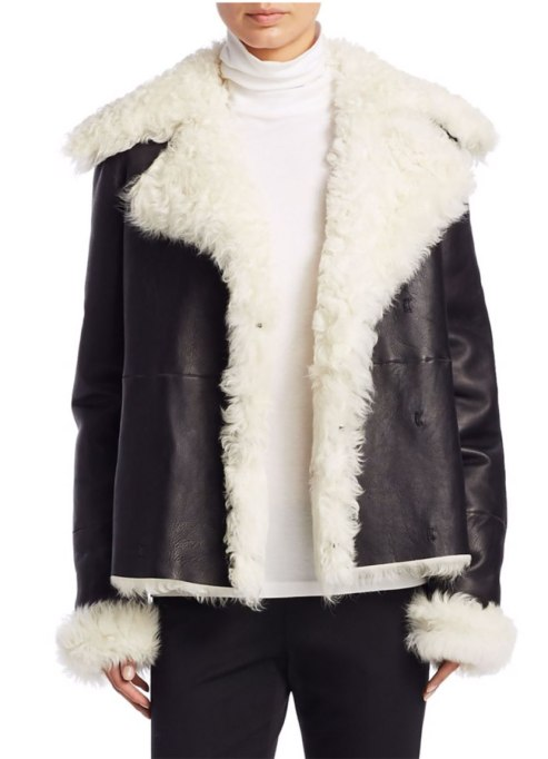 Perfect to Wear Shearling This Season | Theory coat