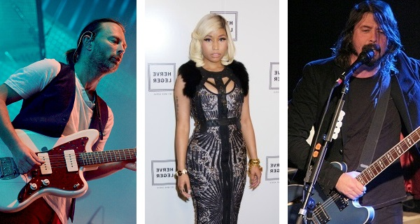Thom Yorke, Nicki Minaj, Dave Grohl