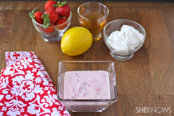 Strawberry mask for acne prone skin