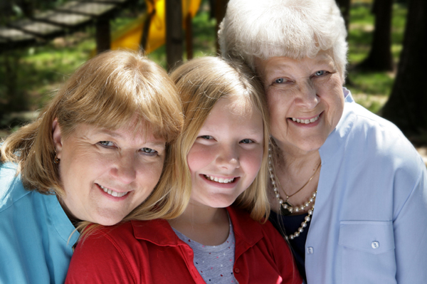 Three generations - Grandma, mom and daughter