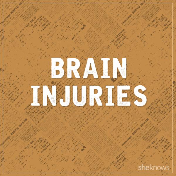 Brain injuries graphic