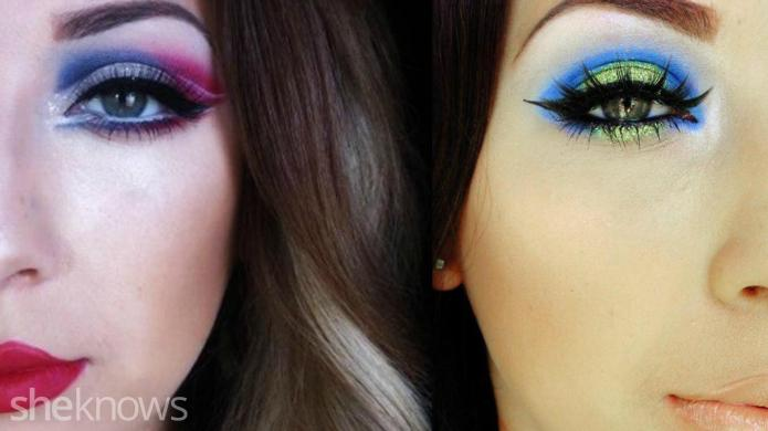 Show-stopping eye makeup for Super Bowl