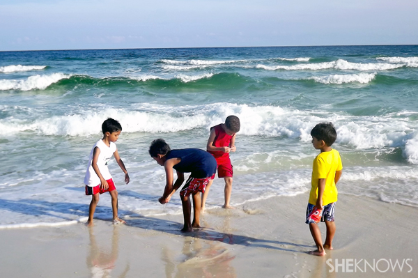 Homeschool vacation at the beach