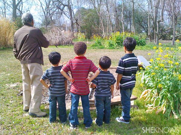 Tiany's sons - Outdoor homeschool gardening