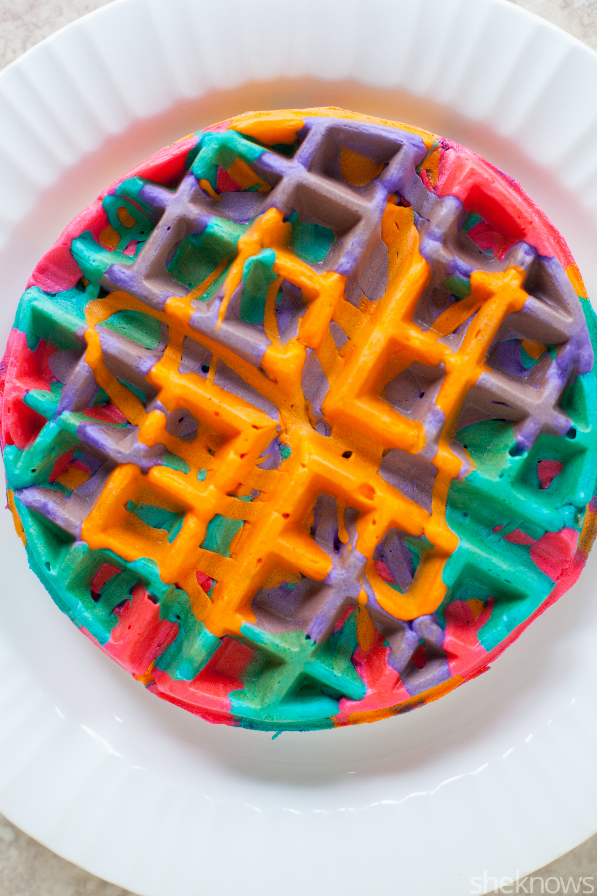 These simple DIY colorful tie-dye waffles will make your mornings ...