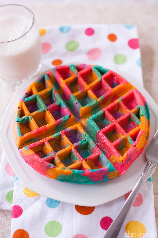 Tie-dye waffles recipe